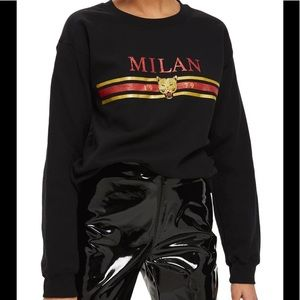 Topshop Milan Graphic Sweatshirt